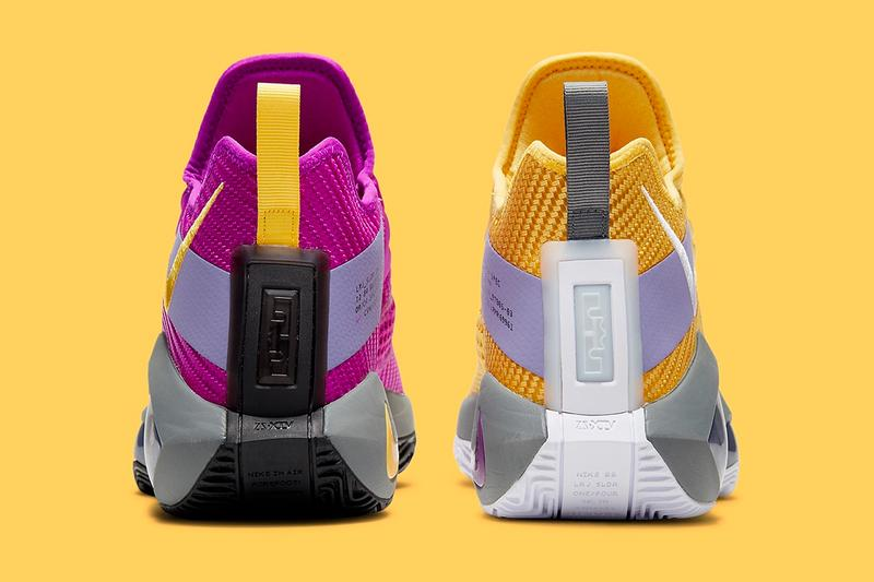 Nike LeBron Soldier 14 Lakers Official Look CK6047-500 Release Info Los Angeles Date Buy Price Yellow Purple