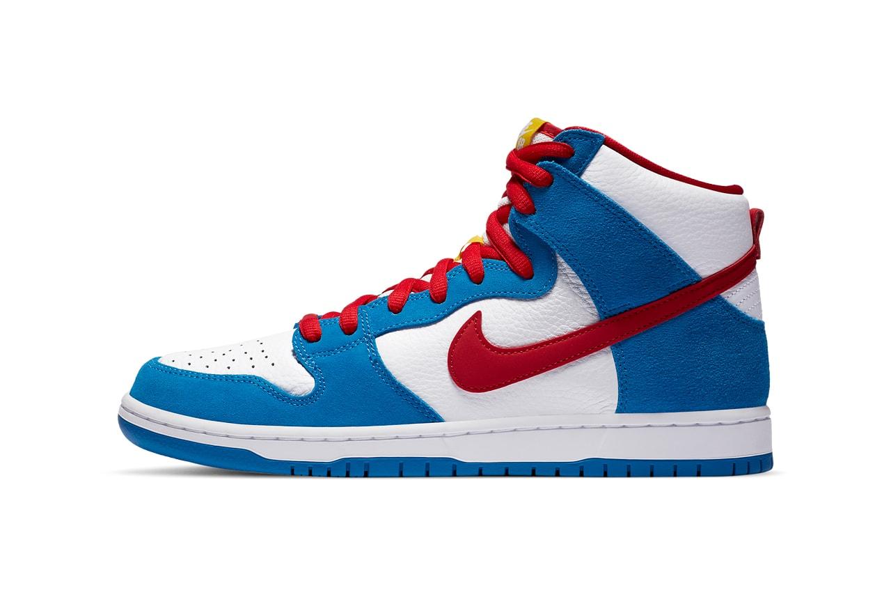 ナイキSBよりドラえもん仕様のダンク ハイが爆誕 Nike SB Dunk High Doraemon Release