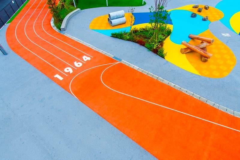Nike Sports by Art Playground Tokyo Japan Travel Olympics Toyosu cortez grind surfacing eco friendly sports ground public park