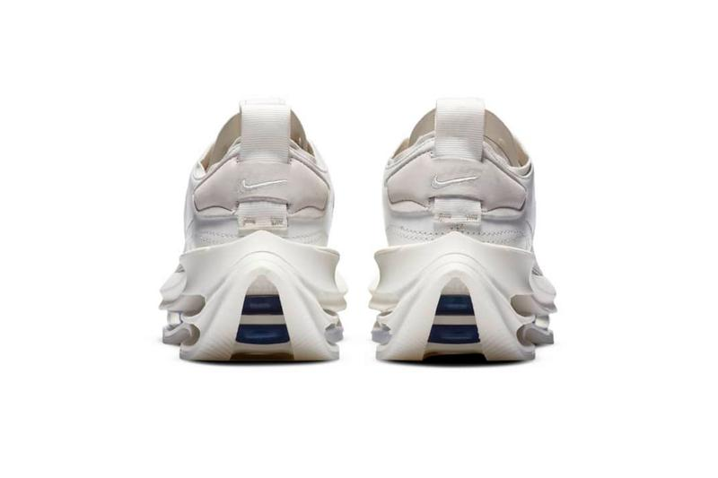 """Nike Zoom Double Stacked """"Summit White"""" Sneaker Release Information Tech Shoes Footwear WMNS Drop Date Swoosh Air Cushioning"""