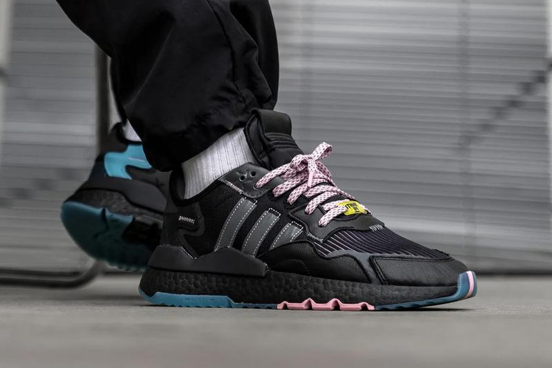 richard tyler ninja blevens adidas originals nite jogger time in core black grey five blue glow pink q47198 official release date info photos price store list buying guide