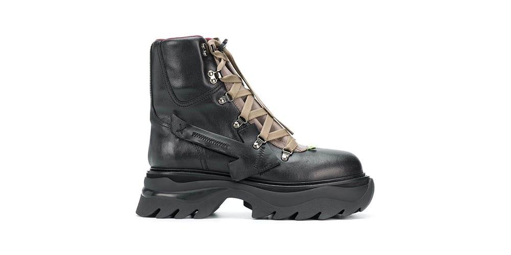 Drops $1,310 USD Black Combat Boots