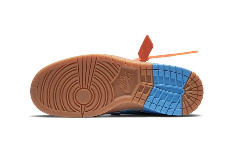 "Off-White™ x Nike Air Rubber Dunk ""University Blue"" Official Release Information Drop Date Virgil Abloh New Sneaker Collaboration Footwear Shoe HYPE Trainer Virgil Abloh Swoosh SB Dunk P-6000"