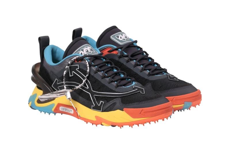 "Off-White™ ODSY-2000 Sneaker Release Information Drop Date New Trainer Technical Trail Runner Retro Shoe Virgil Abloh ""Blue/Black"" ""Multicolor"" 15280759 15280760"