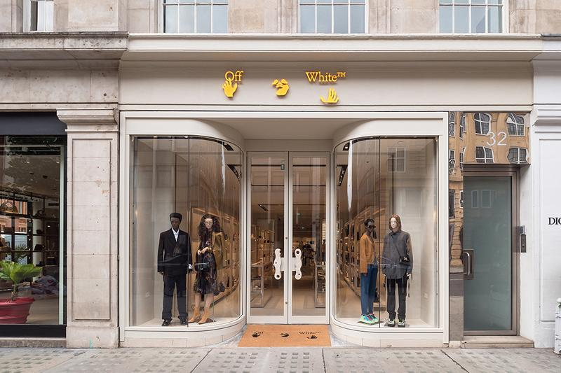 Off-White™ virgil abloh london sloane street knightsbridge store details opening look inside andew taylor parr