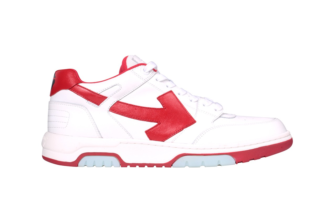 out of office virgil abloh juergen teller sneaker red green tan cream white blue release information buy cop purchase purple