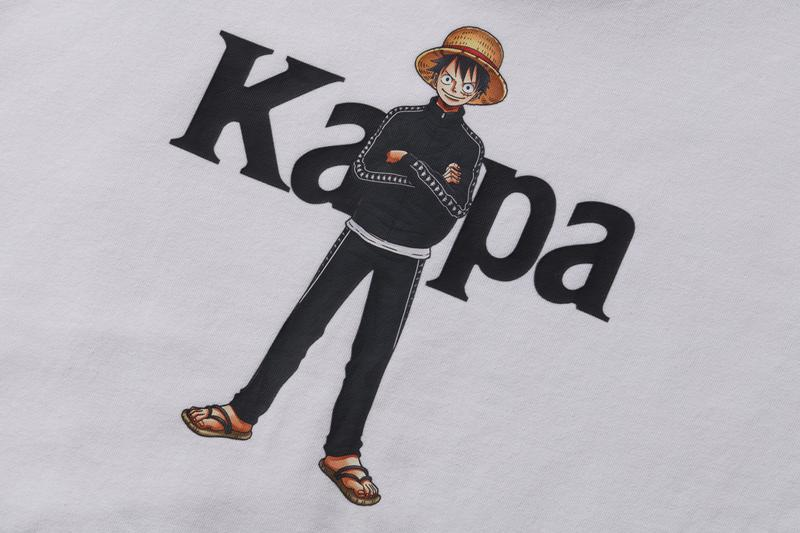 'One Piece' x Kappa Japan FW20 Collaboration fall winter 2020 second capsule collection hoodie track jacket shirt boa hancock monkey d luffy TrafalgarD Water Law