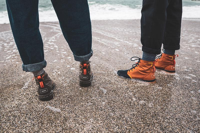 palladium finisterre pampa hi recycled wp+ boots collaboration release hiking boots