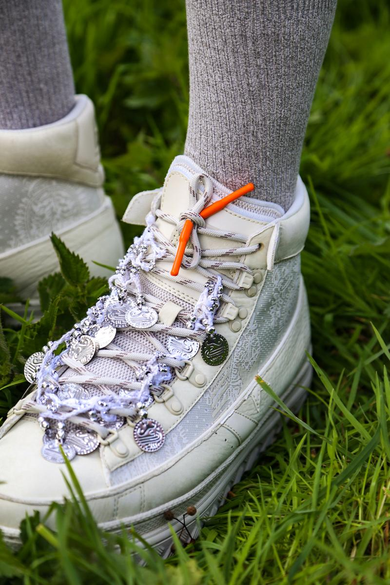 """Paria Farzaneh x Converse Pro Leather X2 Spring/Summer 2021 """"Number 6"""" London Fashion Week Show Release Information Closer Look Collaboration First Look Unveiling Menswear Technical Footwear Basketball Shoe Heritage Cons"""