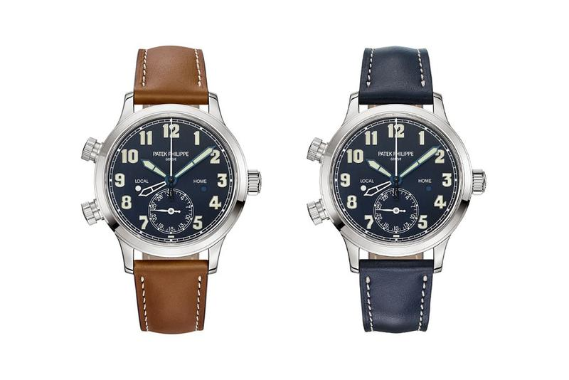 patek philippe calatrava pilot travel time gmt dual time zone watch travel Ref 7234G 001