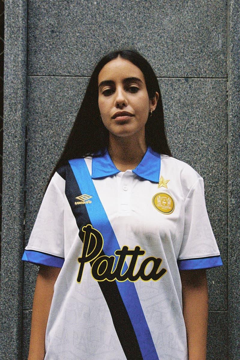patta Inter Milan 1993 94 season Uefa cup away kit white blue sash release information