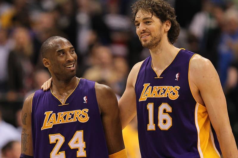 Pau Gasol Names Newborn Gianna Kobe Bryant Basketball News NBA LA Lakers