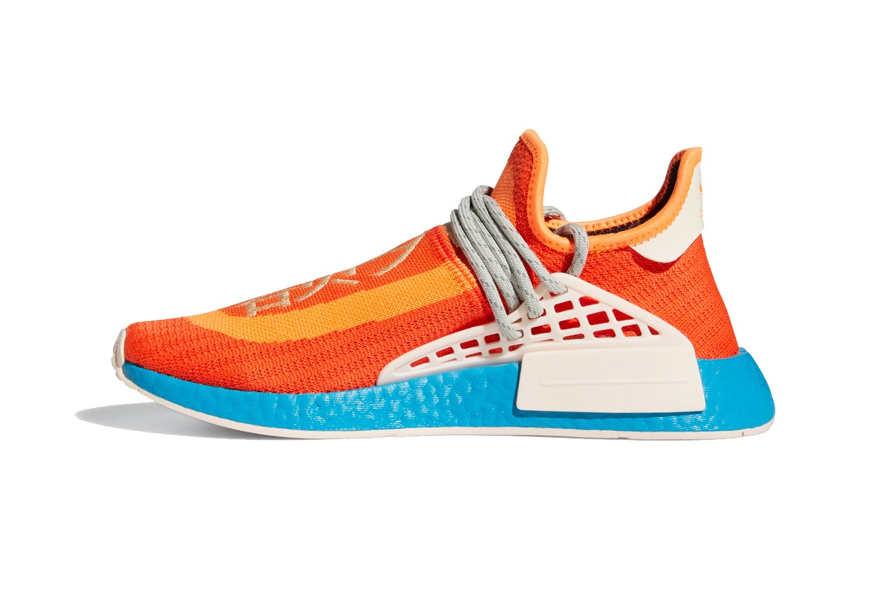 pharrell williams adidas originals nmd hu extra eye legacy purple gray orange blue white official release date info photos price store list buying guide