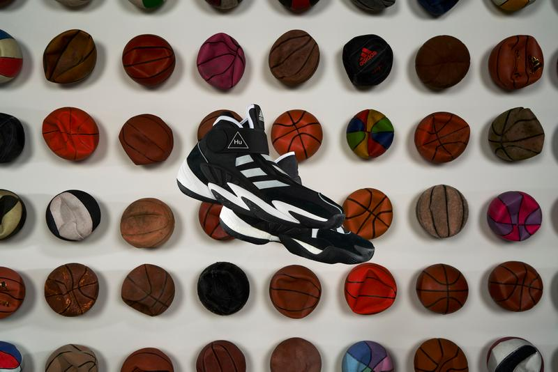 """Pharrell Williams x adidas Originals 0 to 60 STMT """"Black/Silver/White"""" """"Blue/Silver/White"""" Basketball Sneaker Release Information Closer First Look PW BOOST Shoe Footwear Drop Date Three Stripes Tyrrell Winston Campaign"""