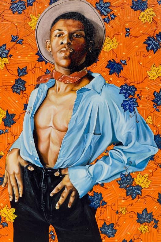 Phillips New Now Art Auction Lil Nas X Otis Kwame Kye Quaicoe 'Old Town Boy' Portrait Artworks Matthew Wong Amoako Boafo KAWS Robert Motherwell Richard Prince Vivian Springford Emerging Talent Blue Chips
