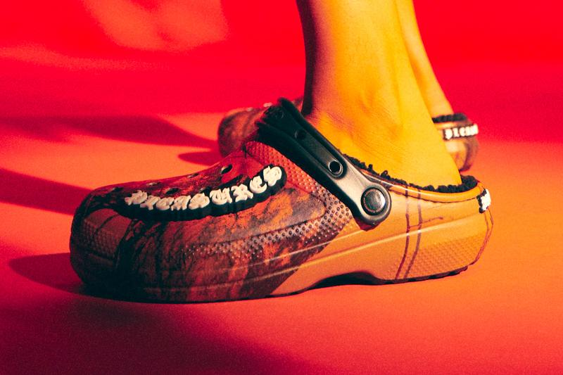 Pleasures Crocs Classic Lined Mossy Oak Blaze Clog Release Info Buy Price Orange