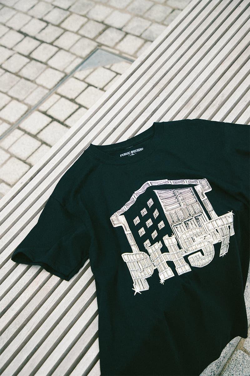 Public Housing Skate Team HBX Exclusive Capsule Release T shirt Helicopter Virgil Abloh