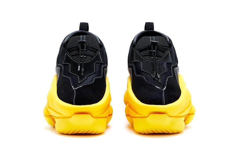 Pyer Moss Sculpt Sneaker First In-House Design Footwear Shoe Drop Release Date Kerby Jean-Raymond Black Yellow Avant Garde Designer