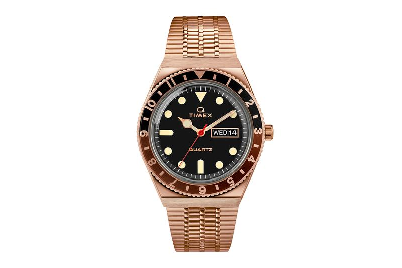 Q Timex Fall Winter 2020 Rose Gold Black Red Color Collection Release quartz watches accessories timex