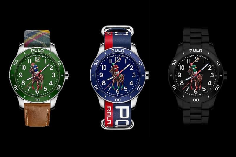 ralph lauren polo logo horse player diver diving watches accessories timepiece