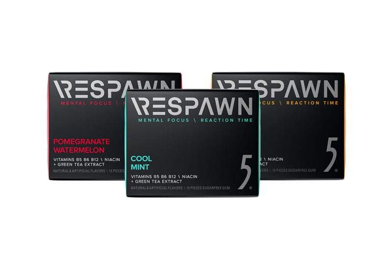 razer respawn mental enhancement performance reaction time focus chewing gum 5 wrigley esports