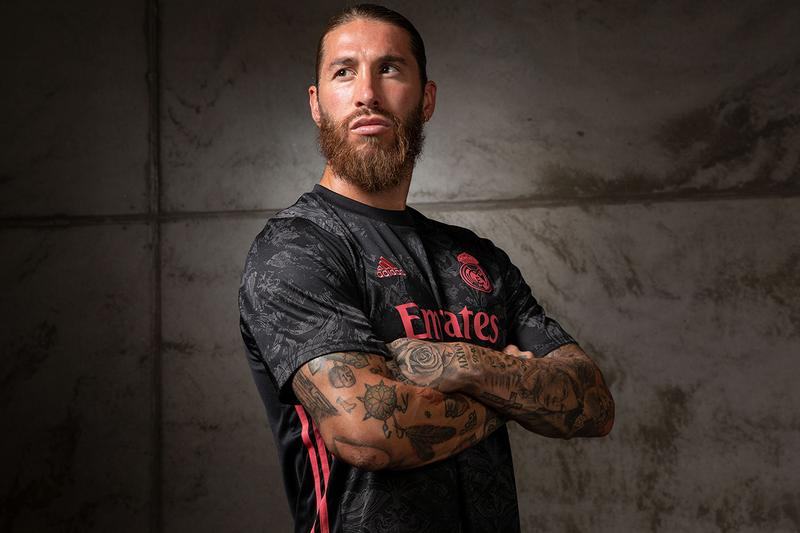 Real Madrid 2020 2021 third kit release information black grey art inspired release
