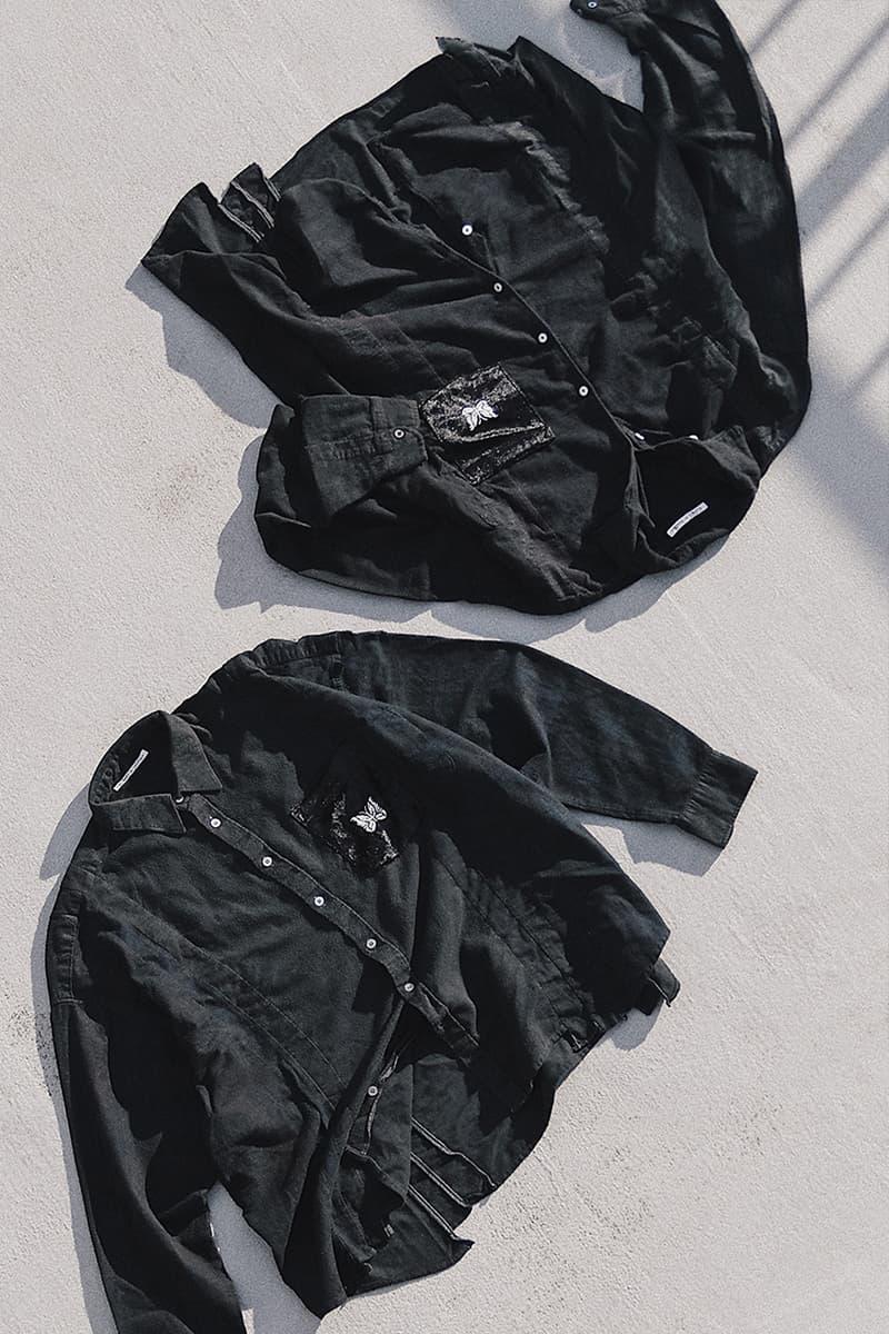Rebuild by Needles 7 Cuts Flannel Shirt NUBIAN Exclusive Release Info Black papillon