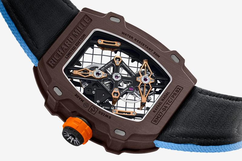 Richard Mille's Rafael Nadal RM 27-04 Tourbillon Sees a Tennis Racket Dial luxury Tennis sports elegant Audemars Piguet RM Swiss watchmaking