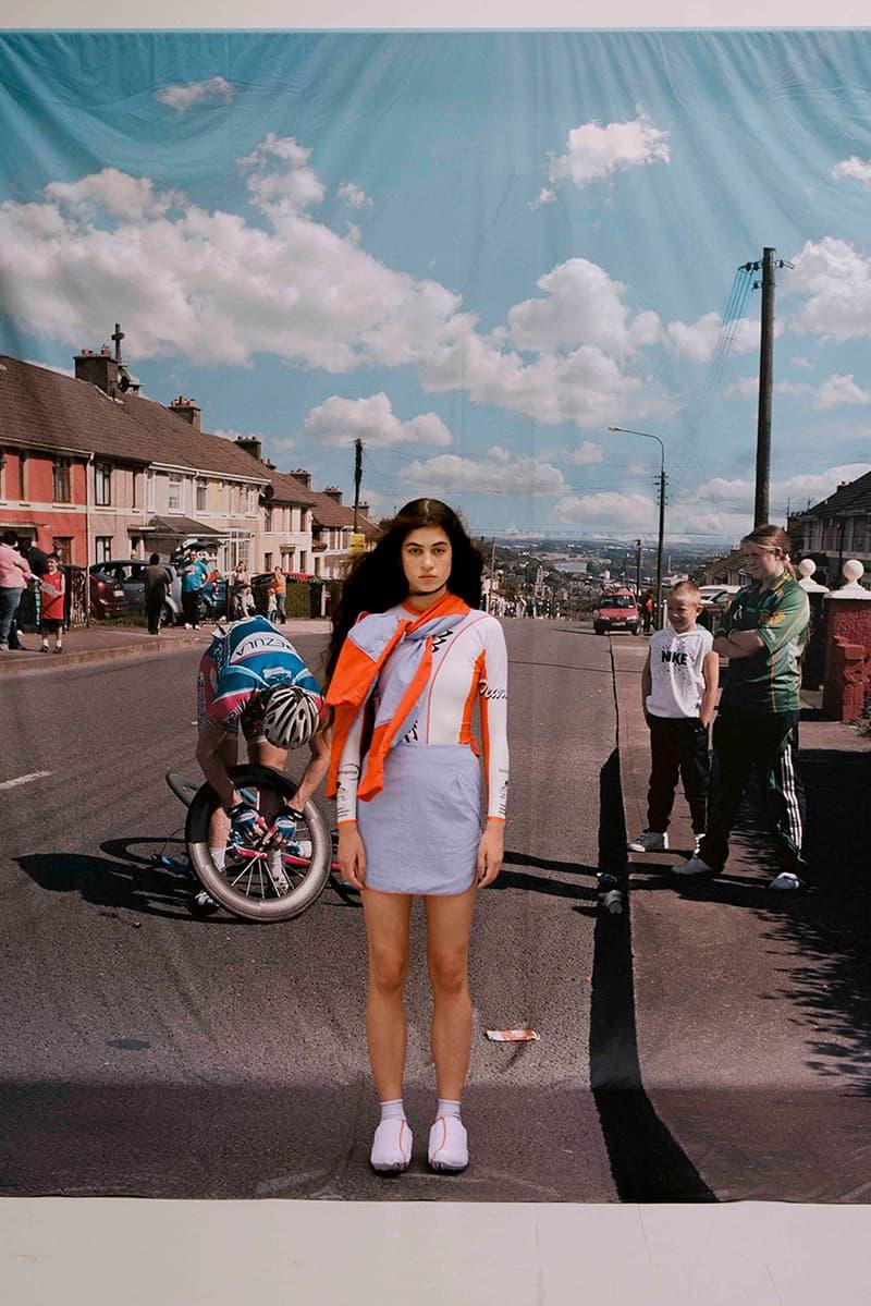 Robyn Lynch spring summer 2021 ss21 cycling ireland london fashion week details lookbook video