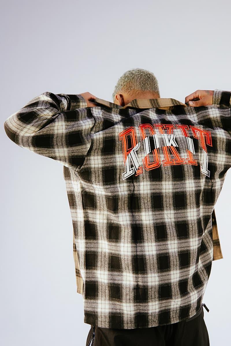 Rokit Fall 2020 Lookbook menswear streetwear f20 collection jackets hoodies pants trousers t shirts graphics tees