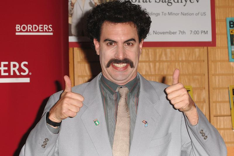 Sacha Baron Cohen Borat Sequel Title revealed Gift of Pornographic Monkey to Vice Premiere Mikhael Pence to Make Benefit Recently Diminished Nation of Kazakhstan
