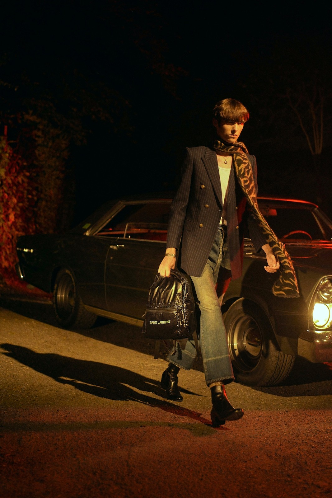 saint laurent bag collection campaign vintage cars getaway noe tote nuxx backpack camp duffel