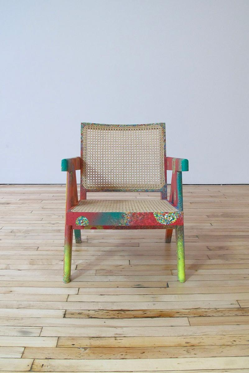 READYMADE and Futura Laboratories Crafts Chair from Plastic Bottle Lids furniture Saint Michael home