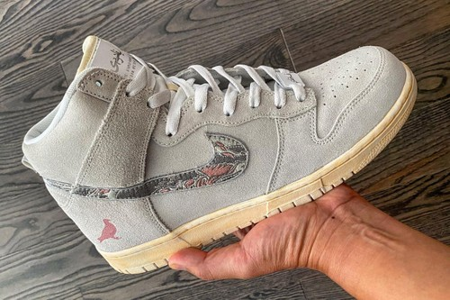 """SBTG and Staple Pigeon Build a Nike Dunk High """"Pigeon Fury"""""""