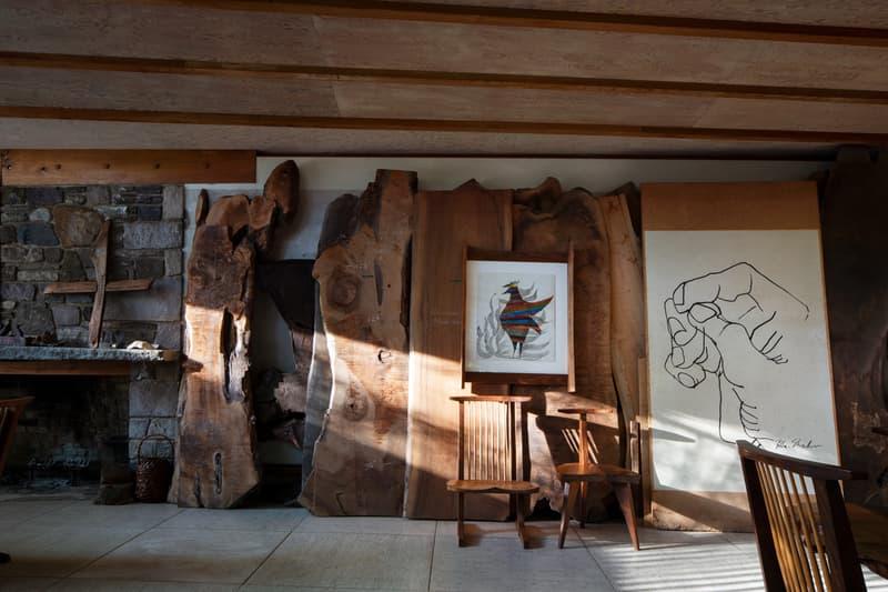 shofuso japanese house and garden exhibition mid century modern design architecture art murals installations textiles