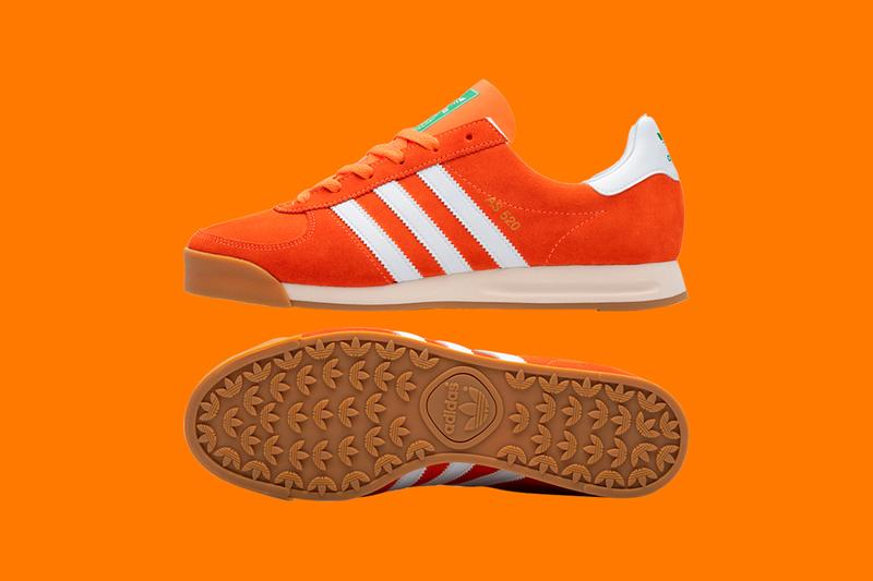size? x adidas Originals AS 520 Sneaker Collaboration Limited-Edition Colorway Release Information Marco van Basten European Championship 1988 Euros Pack Trefoil Gum Orange White Three Stripes