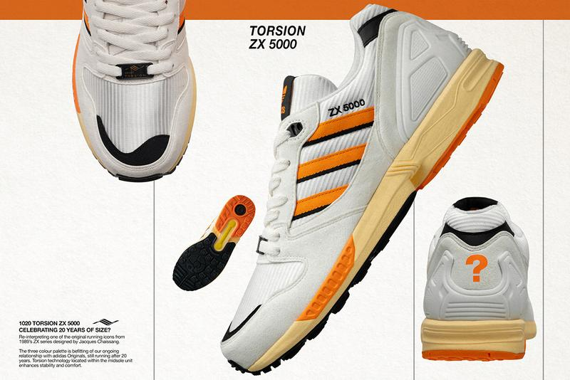 size? x adidas Originals ZX 5000 & ZX 10000C Release Information Collaboration Footwear Sneaker Drop Date Closer Look Question Mark Limited Exclusive Editions 20th Anniversary Retailer Jacques Chassaing Vintage Retro Runner Torsion