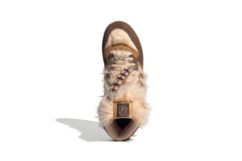 "'Star Wars' x adidas Originals Rivalry Hi ""Chewbacca"" ""Raw Desert / Mesa / Chalk White"" FX9290 Disney Sneaker Collaboration Release Information Drop Date Three Stripes Fur Hair Furry Wookiee"