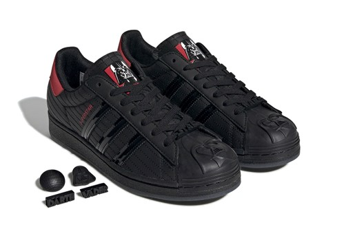 """Luke, the 'Star Wars' x adidas Superstar """"Darth Vader"""" Is Your Father"""