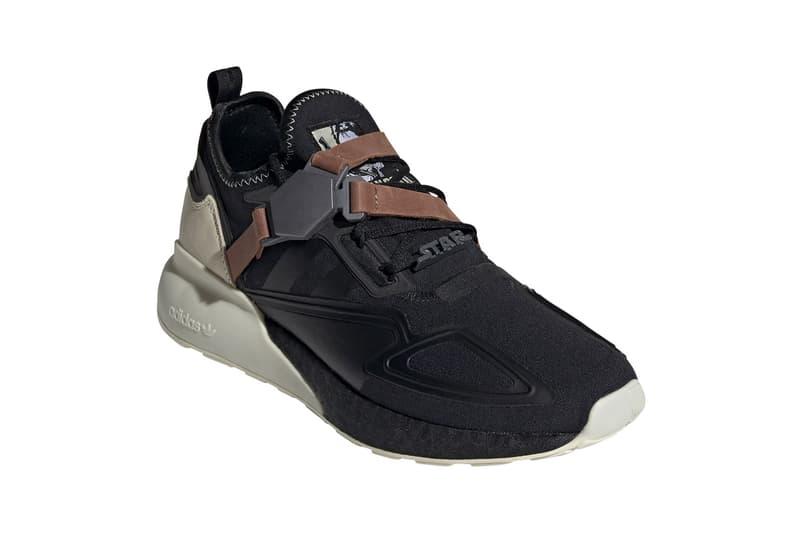 "'Star Wars' adidas ZX 2K BOOST ""Han Solo"" ""Core Black/Sand"" Release Information First Closer Look Shoe Sneaker Drop Date Three Stripes"