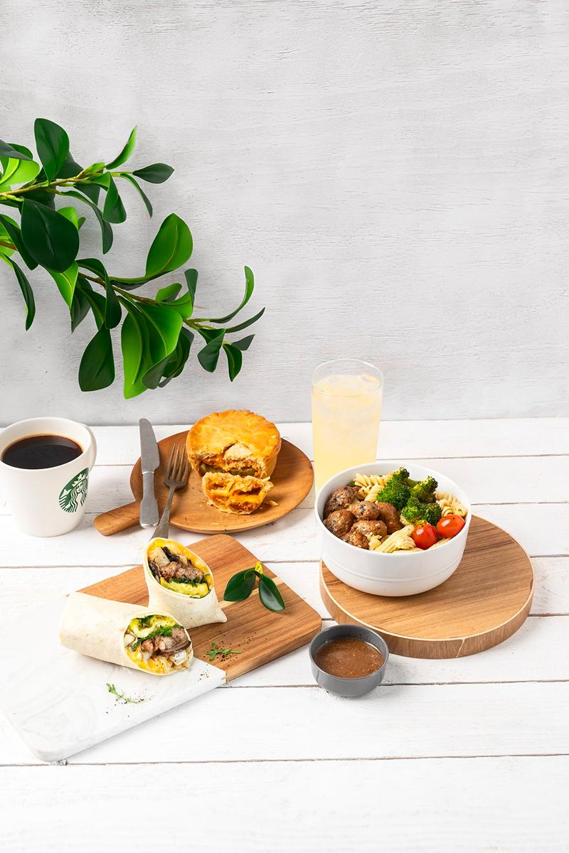 Starbucks Asia Plant-Based Beverage Food Launch Info Hong Kong New Zealand Singapore Taiwan Thailand Oatmilk Cocoa Macchiato Almondmilk Hazelnut Latte flexitarian impossible beyond meat