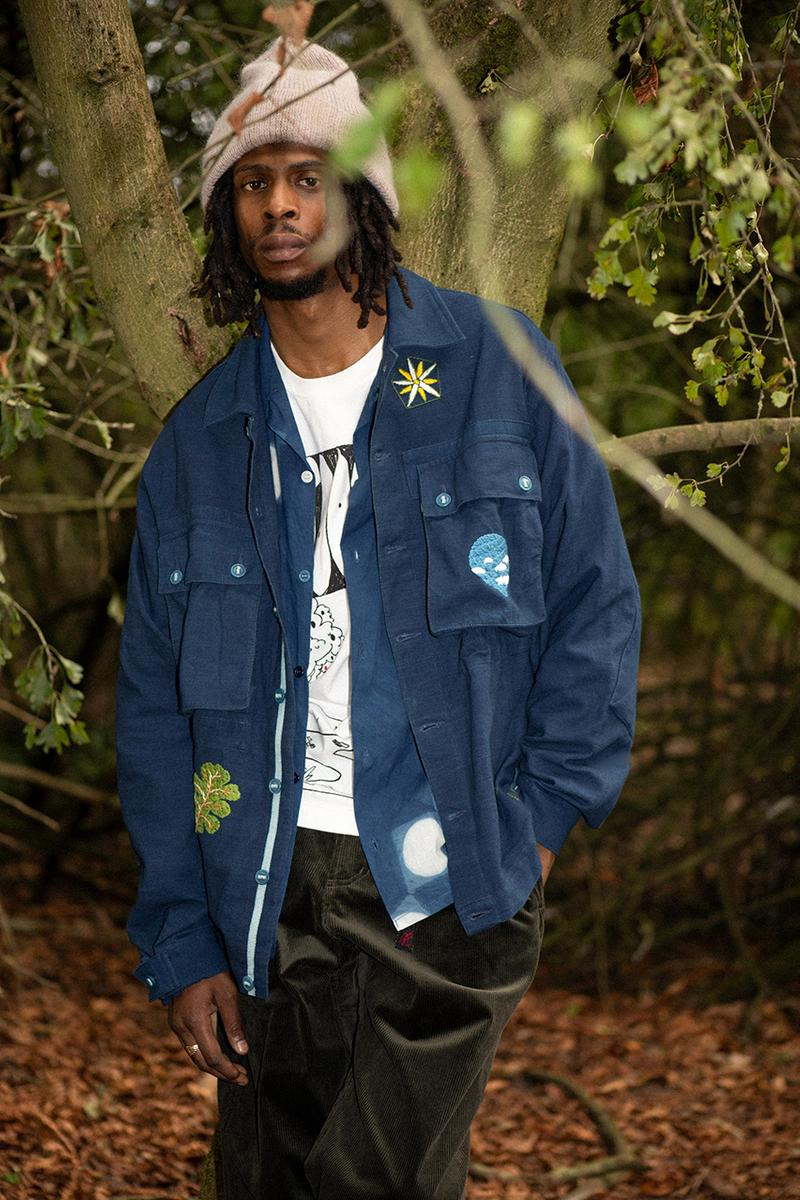 story mfg helix jacket garbstore release information navy blue embroidery