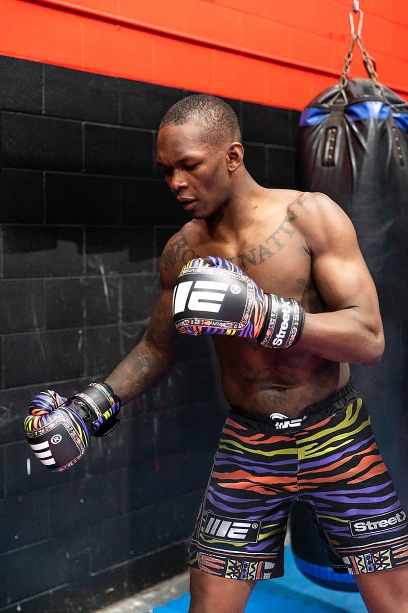 StreetX Engage Capsule Israel Adesanya UFC 253 Release t shirt shorts gloves
