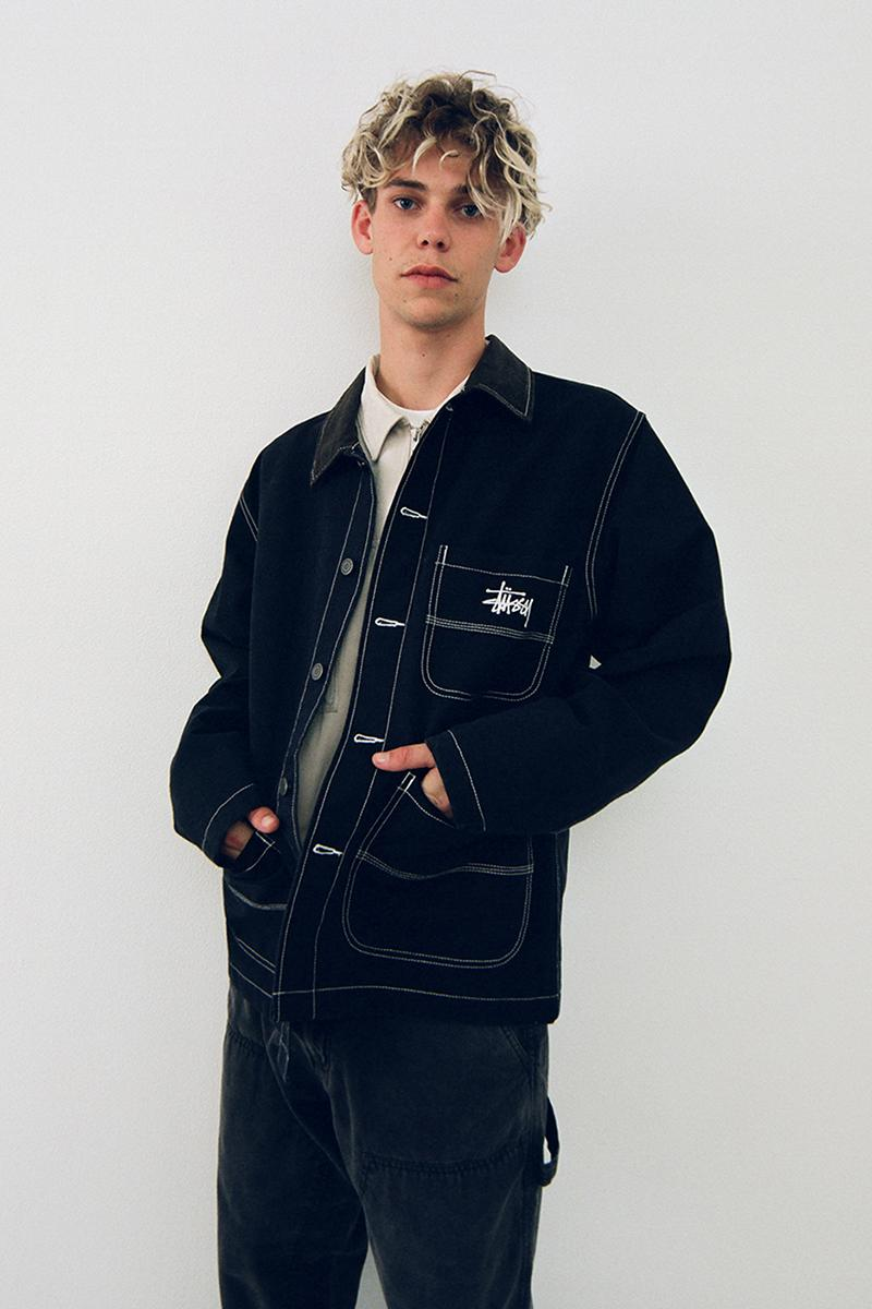 Stussy Fall 2020 Lookbook menswear streetwear collection jackets shirts t shirts graphics sweaters knitwear pants trousers