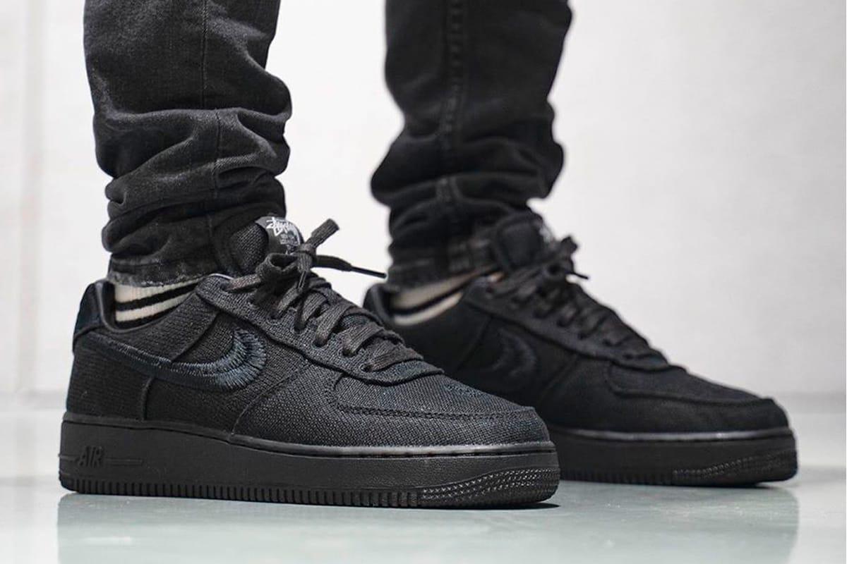 nike air force one all black