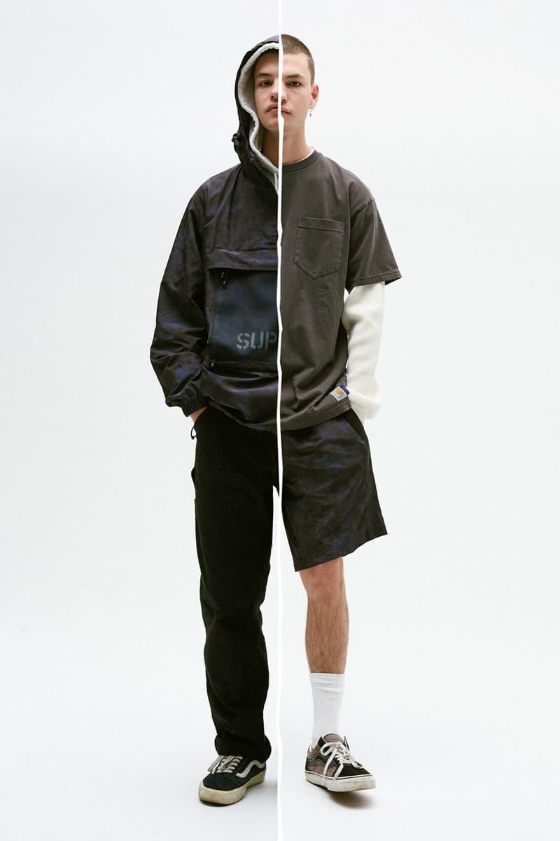 SUPPLY x Carhartt WIP Fall/Winter 2020 Lookbook Collection Capsule Australian Retailer Shawn Yates Hoodies Five Panel Caps Hats Windbreaker Trail Short Reversible Shopper Bag