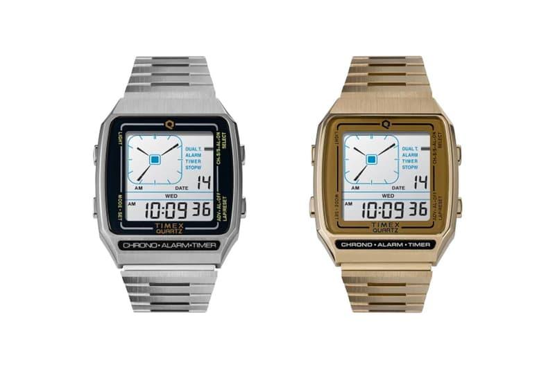 Timex Reissues Nostalgic 1980 Q Timex Digital LCA watches menswear accessories clock digital analog gold silver