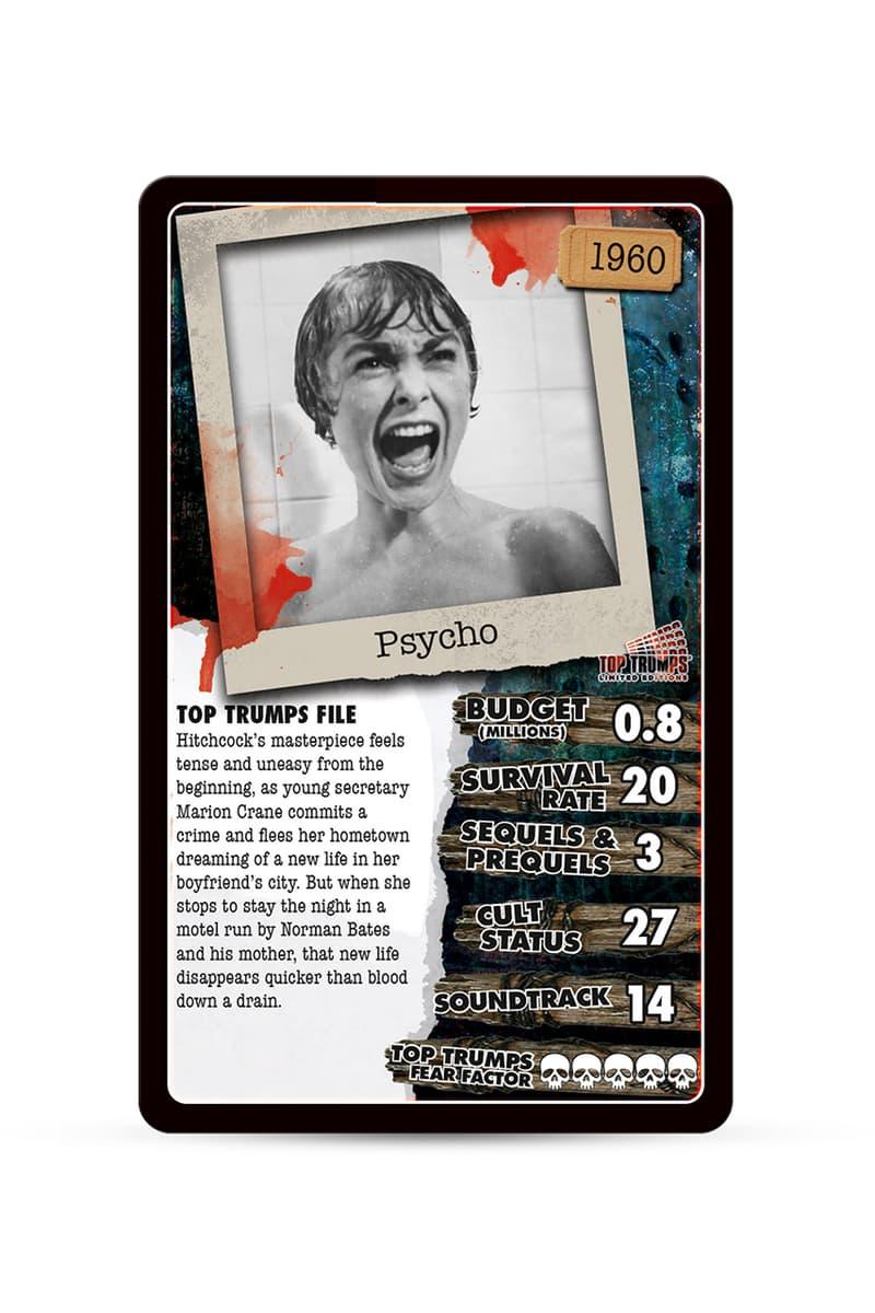 top trumps halloween version scary fix top 30 exorcist physco nightmare on elm street release information amazon