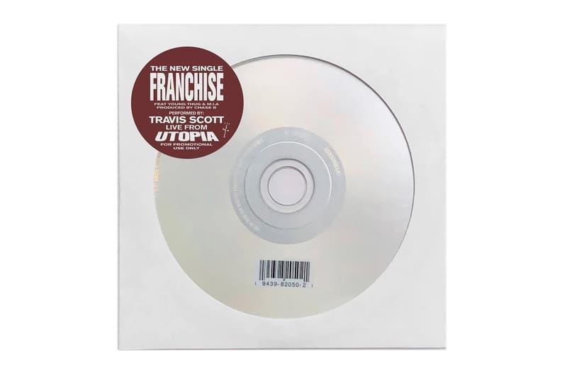 Travis Scott FRANCHISE PROMO TEES CD Release Info Buy Price Utopia