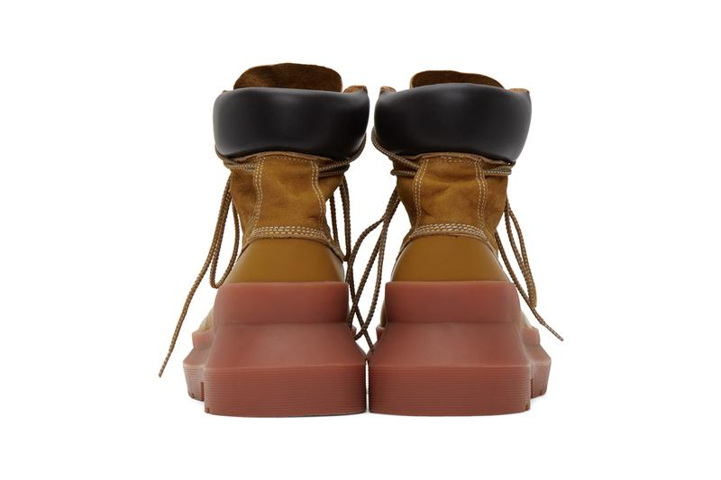 UNDERCOVER Paneled Boots Beige Black Pink Green Jun Takahashi Ankle Bootie Leather Suede Raised Seams Chunky Angled Sole Unit Tactile Japanese Utility